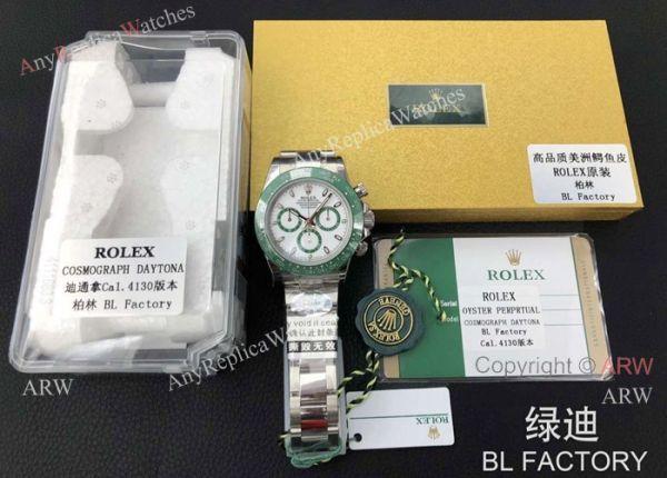 BL Factory Replica New Rolex Daytona Swiss 4130 Green Ceramic Bezel Men Watch