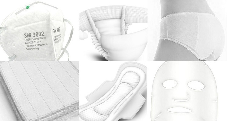 Application of nano antibacterial non-woven fabrics